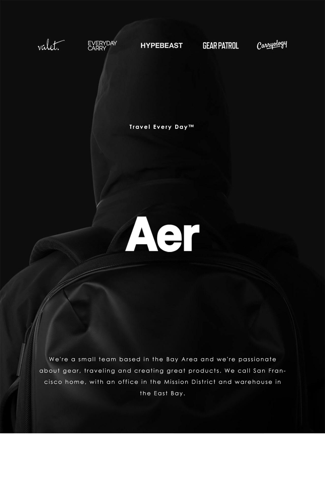 에이어(AER) 트레블팩2 black