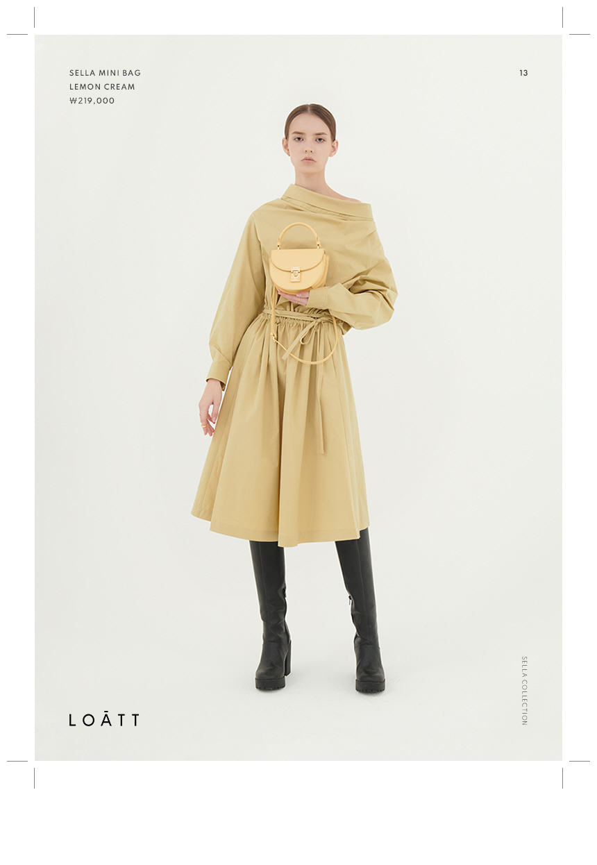 로아뜨(LOATT) 모데르나 바게트 백 [크림]