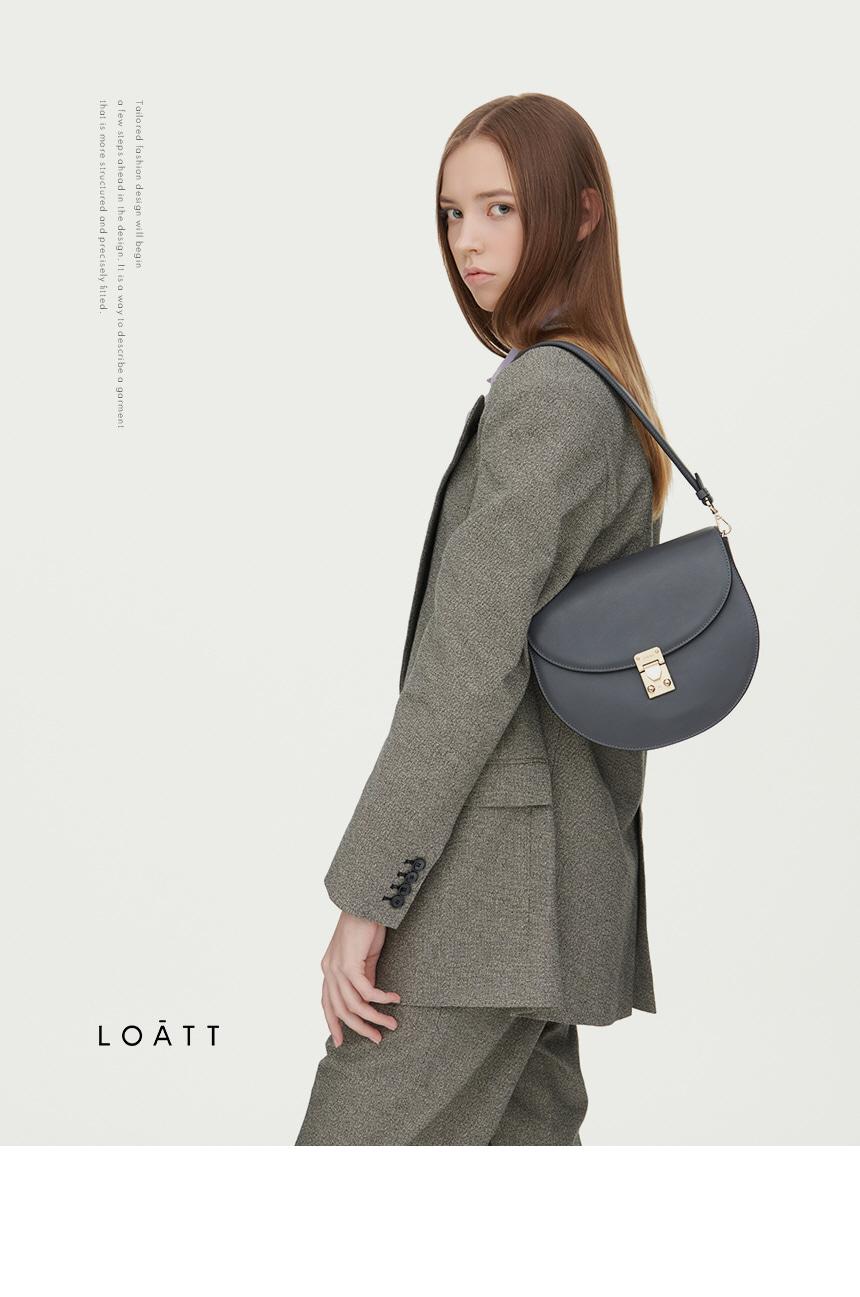 로아뜨(LOATT) 셀라 숄더 백 [웜 그레이]