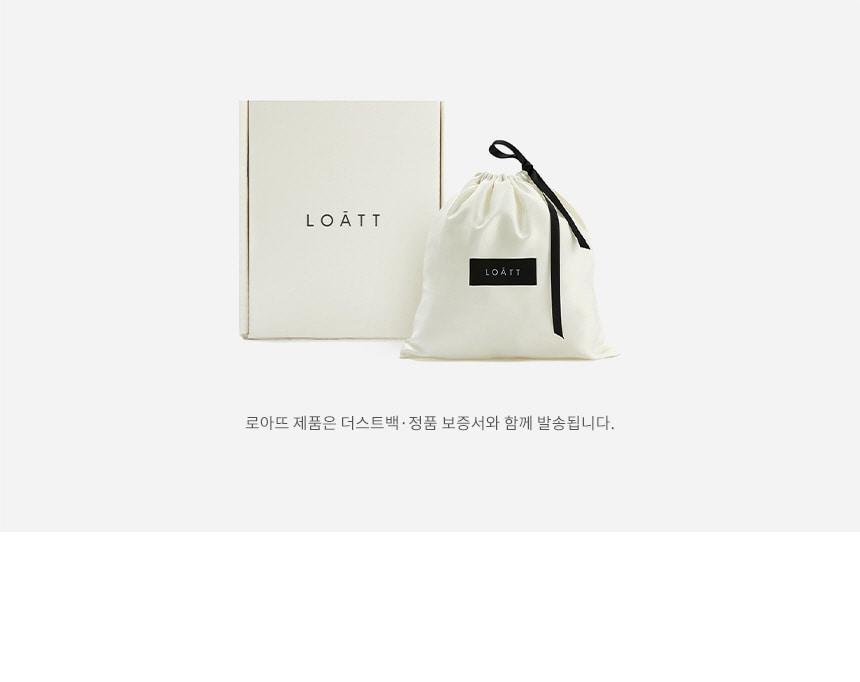 로아뜨(LOATT) 루나 숄더 백 [더스티 로즈]