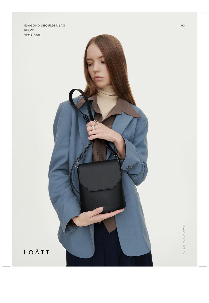 로아뜨(LOATT) 루나 숄더 백 [블랙]