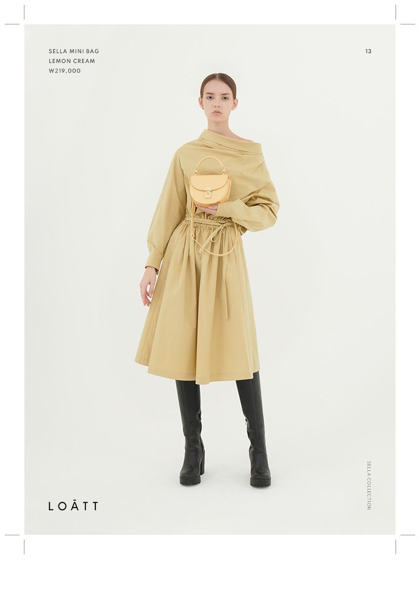 로아뜨(LOATT) 루나 미니 크로스 백 [크림]