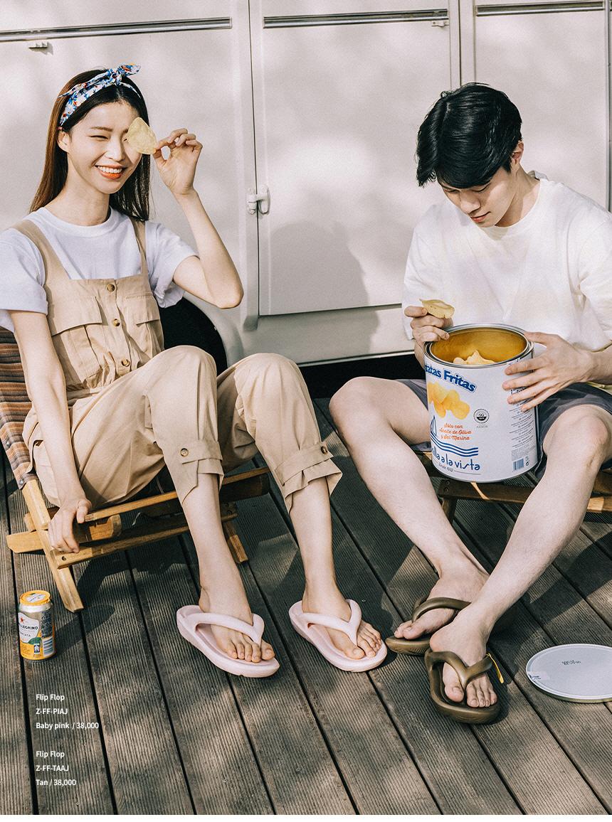 토앤토(TAW&TOE) 제로비티 플립플랍 Cream
